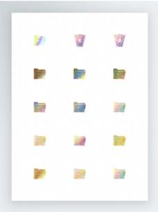 如梦如幻的彩色文件夹图标集