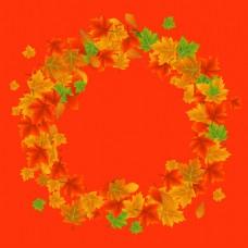 秋季枫叶装饰边框设计背景