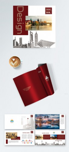 红色大气企业画册广告画册创意画册