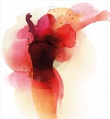 水彩手绘抽象人物