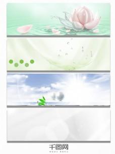 水滴电商清新海报背景