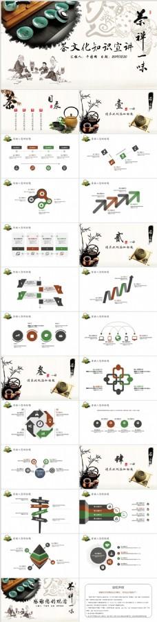 中国风茶文化茶叶知识产品介绍PPT模板