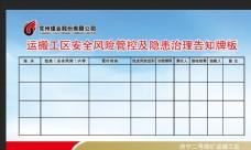 安全 生产 展板 煤矿教育 表