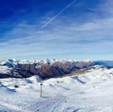 滑雪场美景