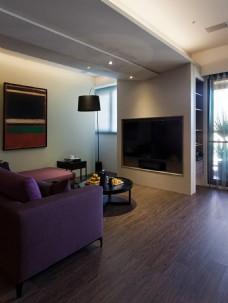 现代客厅漆面落地灯室内装修JPEG效果图