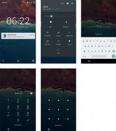 安卓手机锁屏界面sketch素材