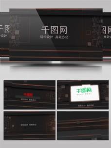 震撼企业宣传图片文字展示AE模板