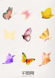 水墨中国风漂亮蝴蝶
