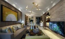 客厅装饰画现代效果图