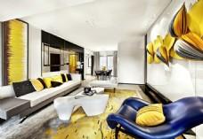 欧式客厅现代效果图