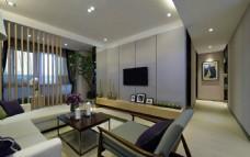 简约客厅现代装饰效果图