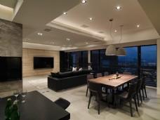 现代客厅壁灯室内装修JPEG效果图