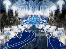 海蓝色室内场景
