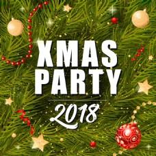 2018圣诞快乐海报设计