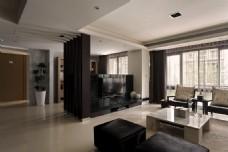 北欧时尚客厅瓷砖地板室内装修JPEG图