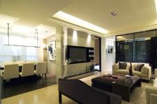 现代时尚客厅黄色地板室内装修JPEG图
