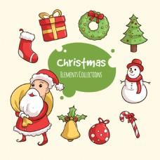 各种圣诞装饰用品PNG元素