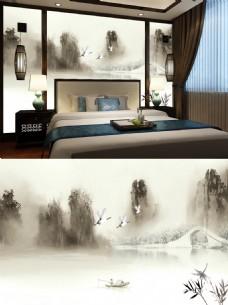 中国风江南水墨画