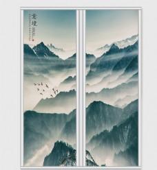 中国风水墨意境移门