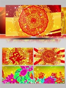H-509-开门红配乐成品喜庆新年祝福晚会背景