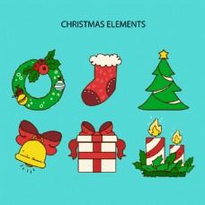 6种圣诞装饰用品元素