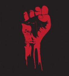 抽像红色拳头图标