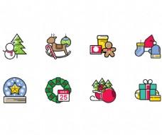 圣诞节彩色图标