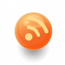 RSS图标水晶球圆球