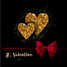 金色浪漫爱情背景