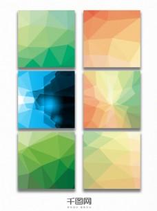 几何三维立体光效主图背景