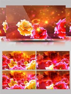 多彩牡丹元旦春节LED大屏幕