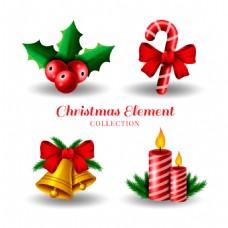 4种圣诞装饰节日元素