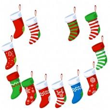 多样袜子圣诞节素材