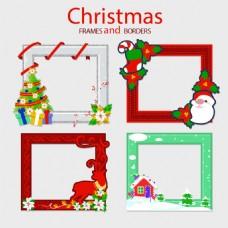 四个装饰圣诞相框