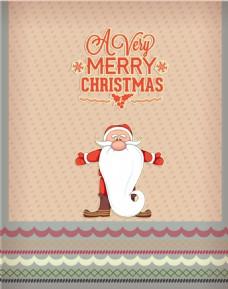 大胡子可爱的圣诞老人元素