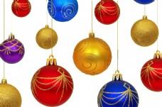 彩色球体圣诞节素材