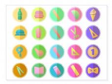 2017图标设计彩色ai矢量插画元素