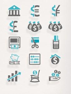 简约商务金融商人节元素