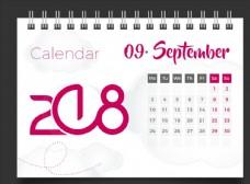 2018年9月台历