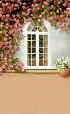 花屋背景图