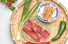 竹筐里的蔬菜