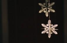 纸  雪花 黑色 圣诞节