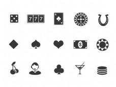 15款黑色赌场素材icon