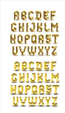 矢量3D字母