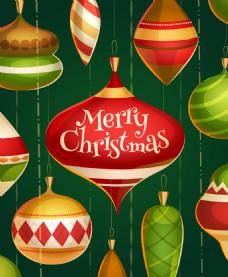 圣诞节日彩球背景