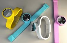 彩色手表产品设计JPG