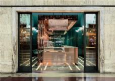 甜品店入户玻璃门装修效果图