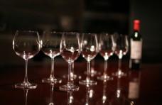 葡萄酒 高脚杯特写