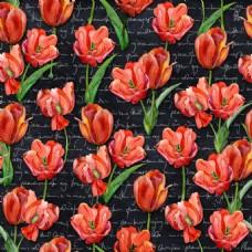 手绘橘红色花jpg背景素材