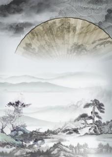 中国风水墨psd背景素材